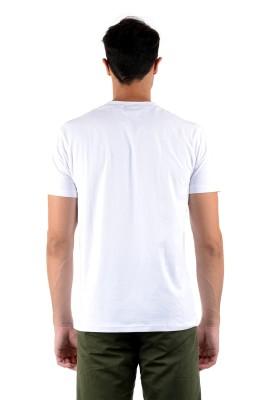 Mudo Printed Men's Round Neck White T-Shirt