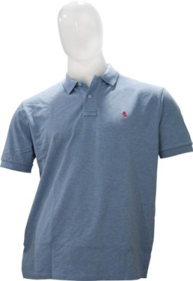 Ralph Lauren Solid Men's Flap Collar Neck Blue T-Shirt