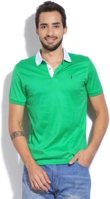 Arrow Newyork Solid Men's Polo Green T-Shirt