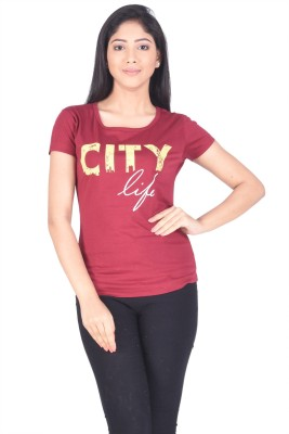 TSG Breeze Printed Women,s Fashion Neck T-Shirt