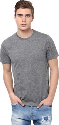 Aventura Outfitters Solid Men's Round Neck Grey T-Shirt