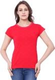 C9 Printed Women's Round Neck Red T-Shir...
