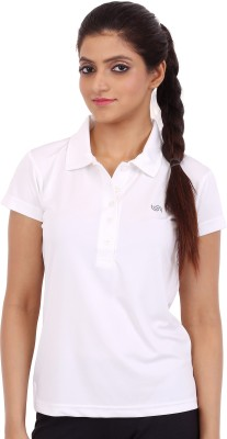 Fitsoul Solid Women's Polo Neck T-Shirt