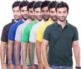 Zuvic Solid Men's Polo Neck Multicolor T...