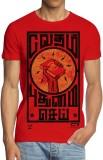 ANGI Graphic Print Men's Round Neck Red ...
