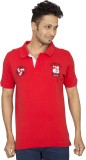 Red Line Solid Men's Polo Neck Red T-Shi...