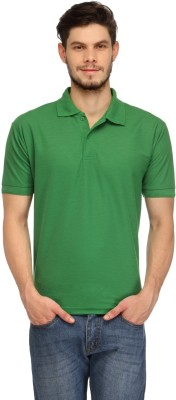 Davie Jones Solid Men,s Polo Green T-Shirt