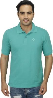 Zista Solid Men's Polo Light Green T-Shirt
