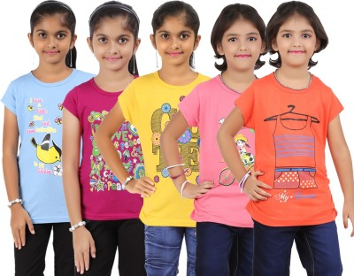 Bes-Tex T- shirt For Girls(Multicolor)