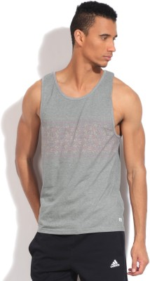 Quiksilver Printed Men's Round Neck Grey T-Shirt