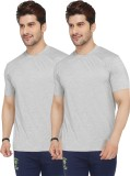 Live In Solid Men's Round Neck Grey T-Sh...