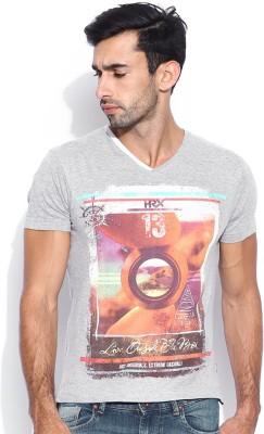 HRX Printed Men's V-neck T-Shirt