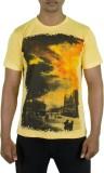 Rampwaq Printed Men's Round Neck Yellow ...