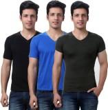 TeeMoods Solid Men's V-neck Black, Blue,...