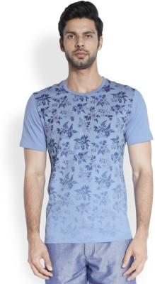 ColorPlus Printed Men's Round Neck Light Blue T-Shirt