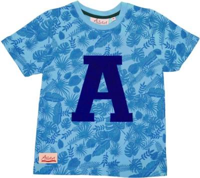 Aristot Graphic Print Boy,s Round Neck Light Blue T-Shirt