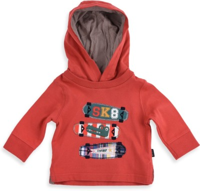 Mothercare Printed Hooded Orange T-Shirt