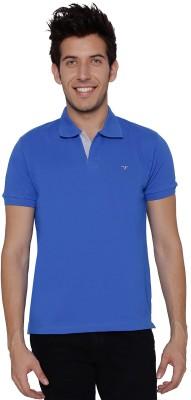 Threadz Solid Men's Polo Blue T-Shirt