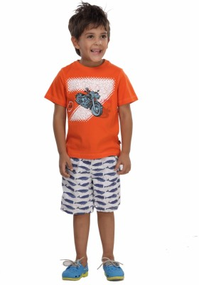 Trmpi Graphic Print Boy's Round Neck T-Shirt