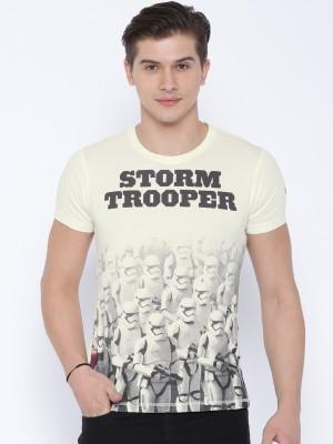 Kook N Keech Star Wars Printed Men's Round Neck White T-Shirt