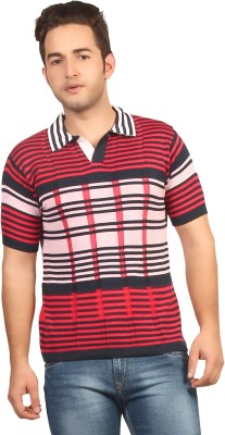 Everyuth Striped Men's Polo Multicolor T-Shirt