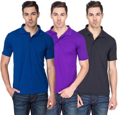 Sulpher Solid Men's Polo Neck Multicolor T-Shirt