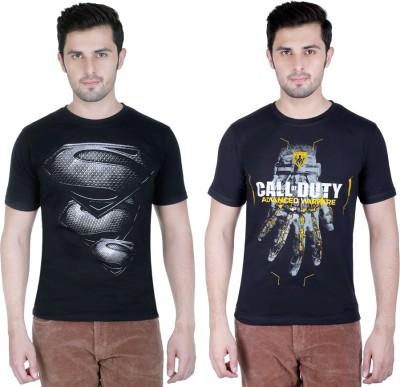 Yuva Printed Men's Round Neck Black, Black T-Shirt