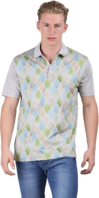 Euro Open Printed Men's Polo Grey T-Shirt