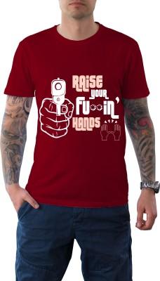 Witty Vogue Graphic Print Men's Round Neck Red T-Shirt
