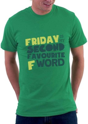 The Souled Store. Graphic Print Men's Round Neck Green T-Shirt