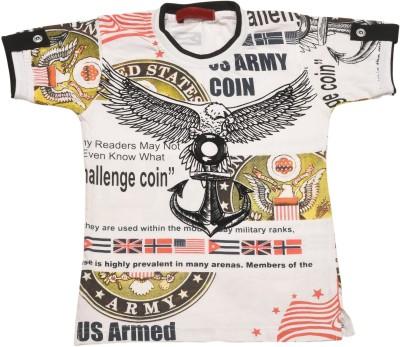 Kid's Care Printed Boy's Round Neck T-Shirt