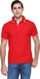 FX Jeans Co Solid Men's Polo Neck Red T-...