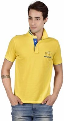 Royal Sport League Solid Men's Polo Neck Yellow T-Shirt