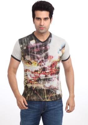 Parx Printed Men's V-neck T-Shirt