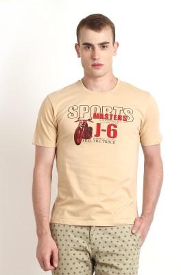 Teen Tees Graphic Print Men,s Round Neck Beige, Red T-Shirt