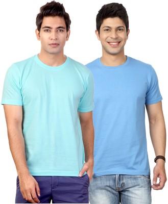 Top Notch Solid Men's Round Neck Light Blue T-Shirt