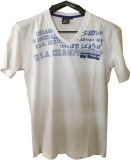 Rools Printed Men's V-neck White T-Shirt