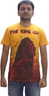 YDA Printed Men's Round Neck Yellow T-Shirt