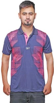 Port Solid Men's V-neck Blue T-Shirt