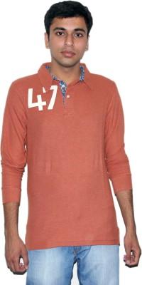Mask Lifestyle Printed Men's Polo Brown T-Shirt