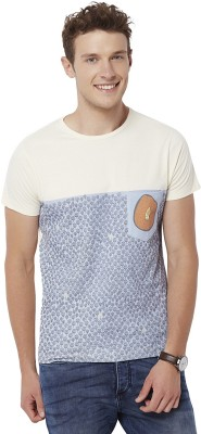 Chumbak Printed Men's Round Neck Blue T-Shirt