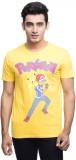 Pokemon Printed Men's Round Neck Yellow ...