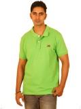 Bleidd Solid Men's Polo Neck Green T-Shi...