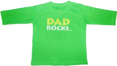 Acute Angle Printed Boy,s Round Neck Green T-Shirt