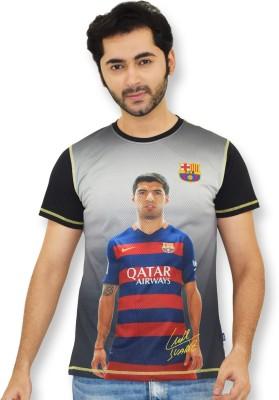 FC Barcelona Printed Men's Round Neck T-Shirt