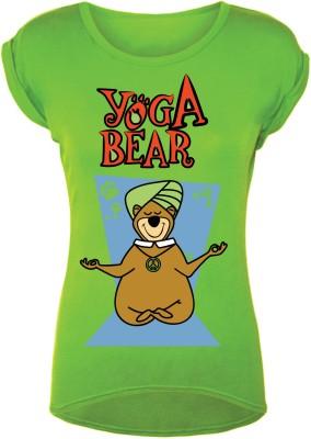 Gabi Graphic Print Women's Round Neck Green T-Shirt at flipkart