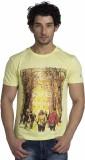 Klub Fox Printed Men's Round Neck Yellow...