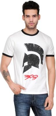 White Kalia Graphic Print Men,s Round Neck White T-Shirt