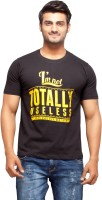 Nihaal Printed Men's Round Neck Black T-Shirt