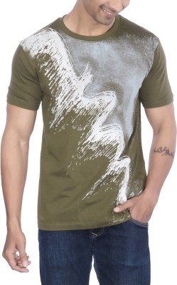 Lifestyle By Ps Printed Men's Round Neck Green T-Shirt